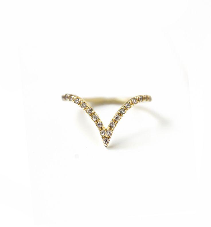 Chevron Gold Ring