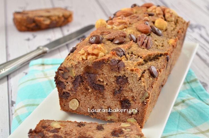 Bananenbrood met noten en chocola 2a