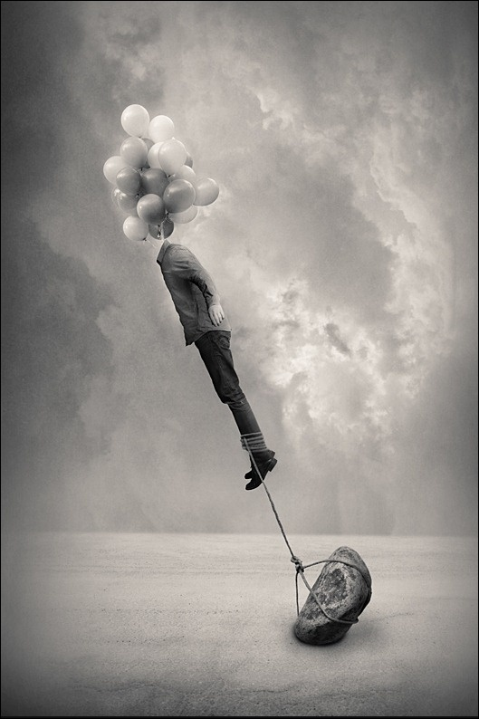 ...of keeping David just grounded enough but not stifled till he figured out his balance  :)  (Graphics Think Tank: 200+ Adorable Examples of Surreal Photography)
