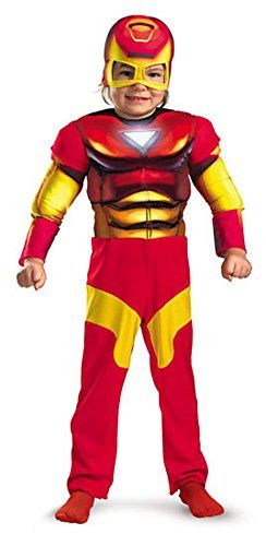 boys - Iron Man Muscle 4-6 Halloween Costume - Child 4-6 @ niftywarehouse.com #NiftyWarehouse #Geek #Horror #Creepy #Scary #Movies