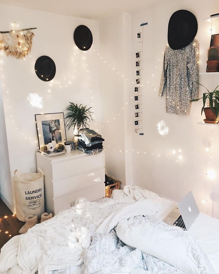 """46.2k Likes, 82 Comments - Urban Outfitters (@urbanoutfitters) on Instagram: """"Take a tip from @viktoria.dahlberg and always add more string lights. Everywhere.  #UOonCampus"""""""