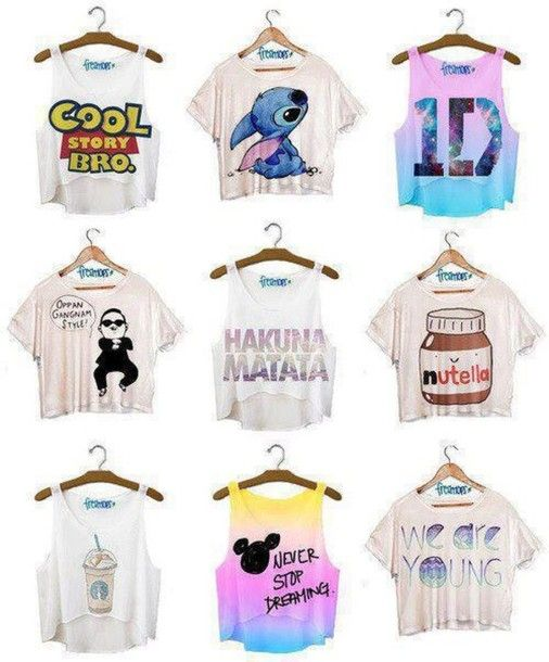 cute tees and tanks | shirt, crop tops, disney, quotes, cute, blouse - Wheretoget