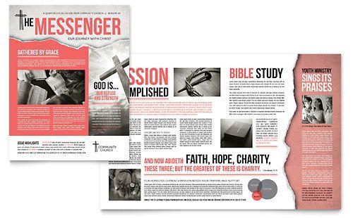 Bible Church - Newsletter Template Design