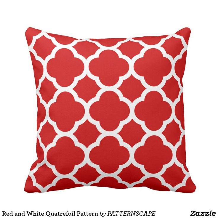 Red and White Quatrefoil Pattern