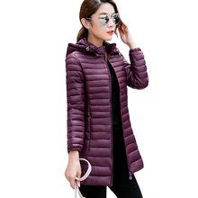 Abrigo de invierno 2016 de Algodón Por la Chaqueta de Invierno Para Mujer Chaquetas de Invierno y Abrigos Más El Tamaño M-4XL Delgada delgada Larga de las mujeres Outwear invierno(China (Mainland))