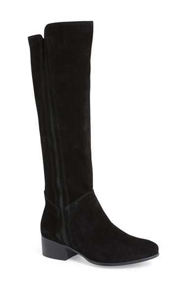 Free shipping and returns on Steve Madden Pull-On Boot (Women) at Nordstrom.com. An alluring knee-high boot done in soft suede is accented with sophisticated stitching and a subtle heel—while long, sleek elastic insets create a custom fit.