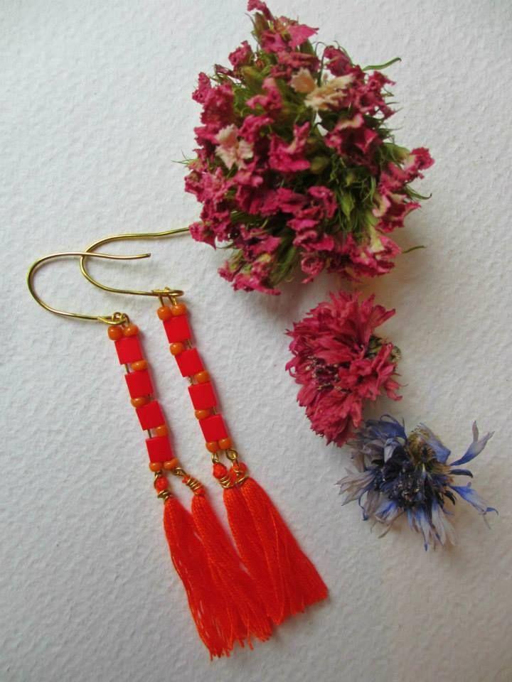 Bohemian ethnic earrings  #earrings #fashion #colorful #handmade #bohemianjewelry