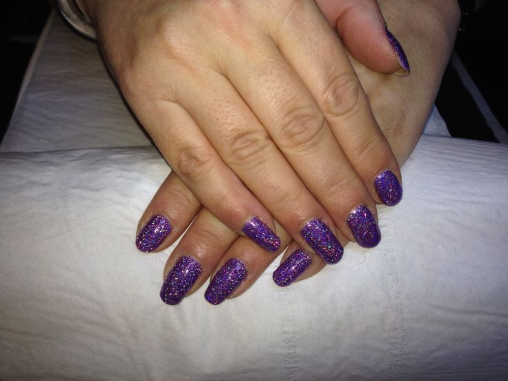 CND Shellac Rock Royalty and Lecente Glitter