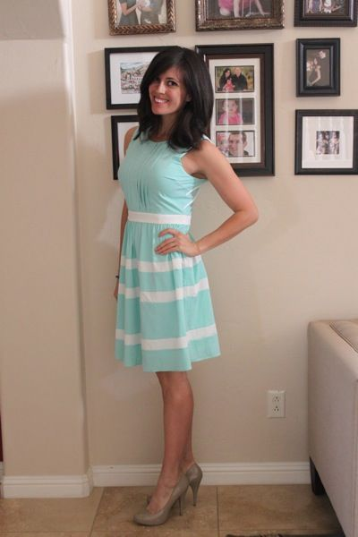 cute dress, a little to preppy for me, but looks great on her