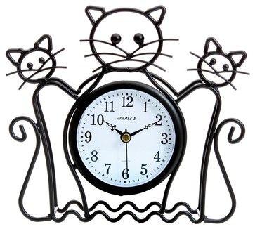 Cat Silhouette Table Clock - Contemporary - Desk And Mantel Clocks ...