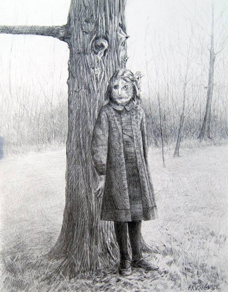 "Saatchi Art Artist Wendy Brusick; Drawing, ""Edna"" #art"