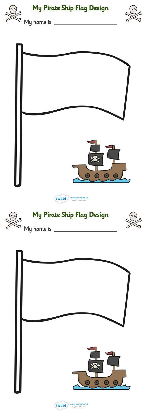 deze piratenvlag kan ik gebruiken voor mijn spel met de boten.
