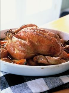We love this succulent Perfect Roast Chicken recipe from Ina Garten. Vote for her to win on America's Favorite Chef! http://www.kitchendaily.com/americas-favorite-chef #FavoriteChef