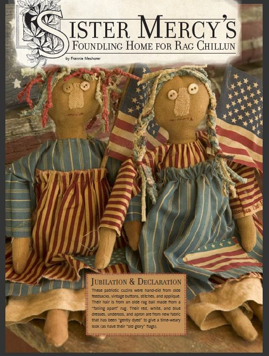 Free PDF pattern for Making a Rag Doll - Sister Mercy Style. By MaryJanesFarm | Recipes-Patterns-Instructions