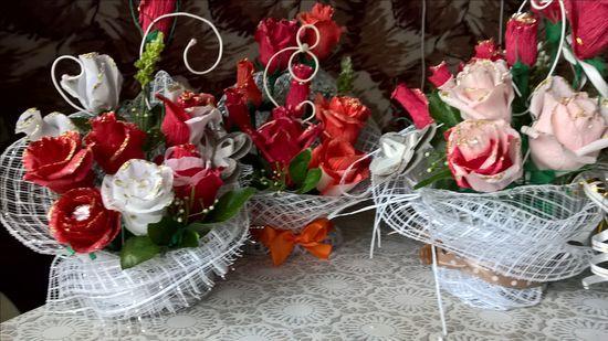 Букет из конфет-мини розы