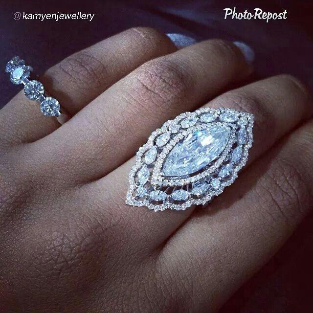 "By @kamyenjewellery ""Lovely 3 carat Marquise and pink diamonds ring"" via @PhotoRepost_app"