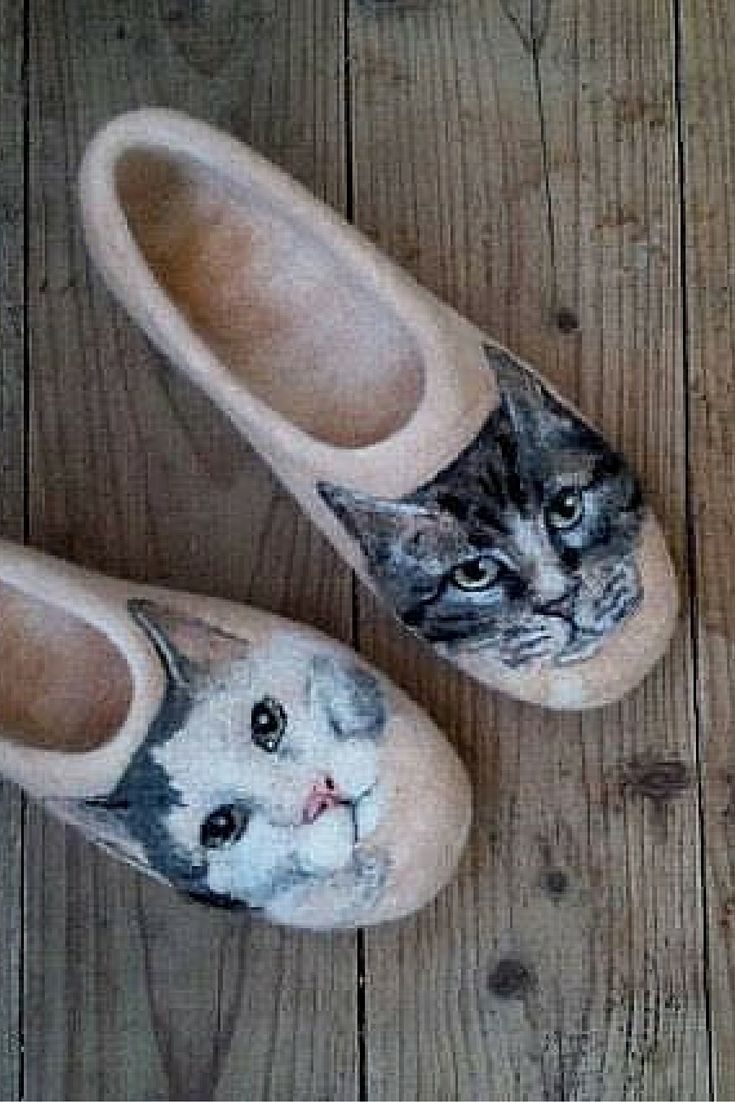 Shima Fiber Art. Lovely felted slippers made with DHG wool. http://www.dhgshop.it/index_eng.php