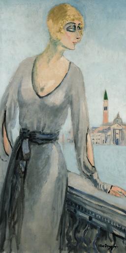 Jeune femme debout, Venise, Kees van Dongen. (1877 - 1968)