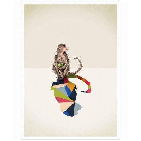 Walking Shadow - Monkey as Art Print by Jason Ratliff | Art. Everywhere.