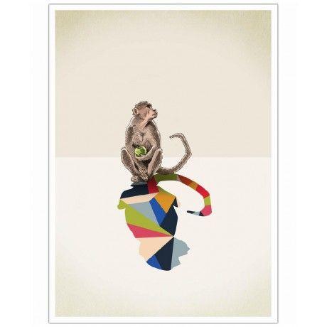 Walking Shadow - Monkey as Art Print by Jason Ratliff | Art. Everywhere.