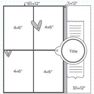 Multiphoto Scrapbook Page Sketches 271-300: Scrapbook Page Sketch 350