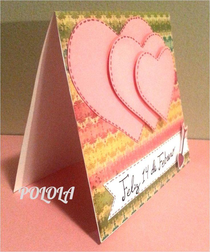 Tarjeta de Amor para san valentin. Hecha a mano. Tamaño: 4¨x4¨ Ref: tcesv05