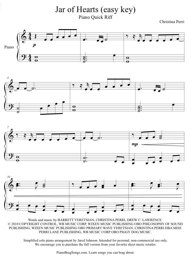 The 25+ best Jar of hearts piano ideas on Pinterest | Chord jar of ...
