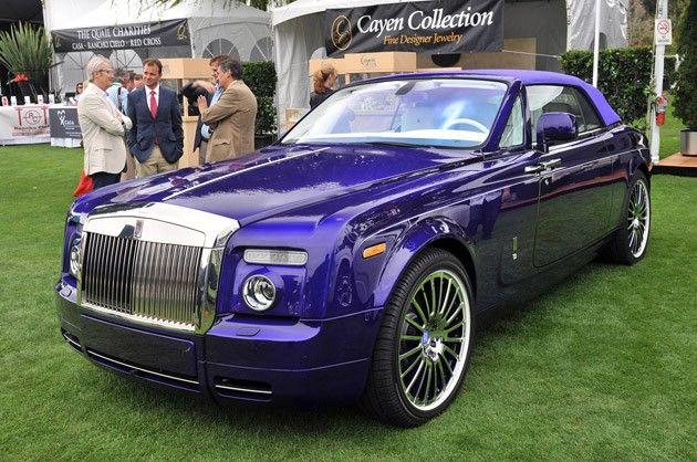 Purple Rolls Royce