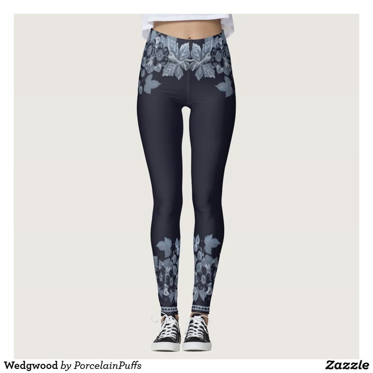 FASHION - PANTS - ZAZZLE - PORCELAINPUFFS - WEDGWOOD LEGGINGS