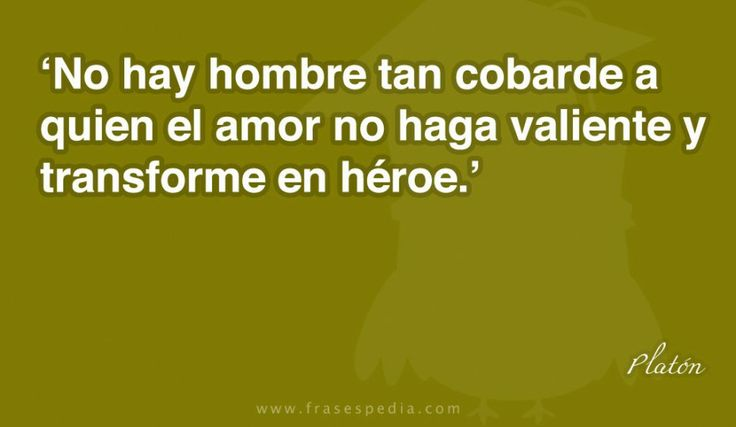 No hay hombre tan cobarde a quien el amor no haga valiente y transforme en héroe.