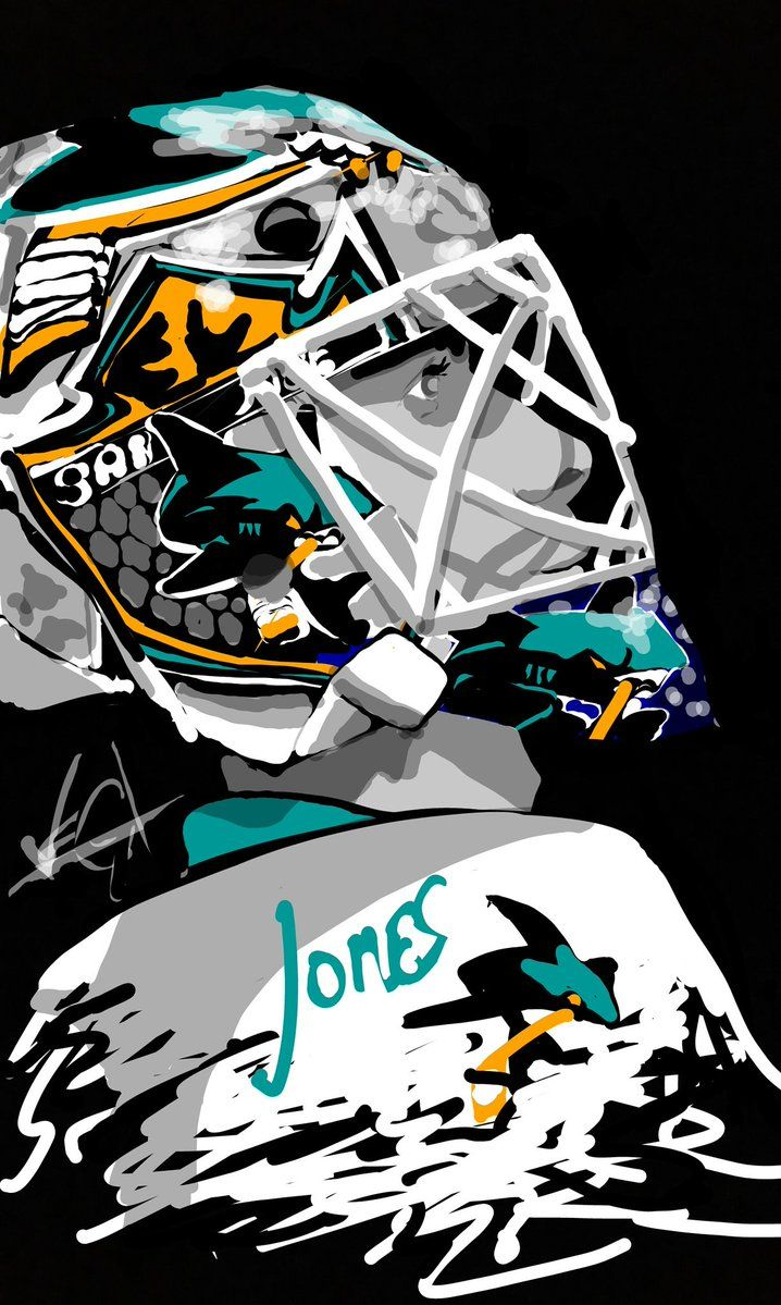 San Jose Sharks made a little snapchat Portrait of Jones, Player of the game last night.  44 saves in a 4-2 game 5 Stanley Cup win 2016.