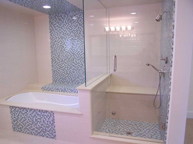 Bathroom Blue Wall Tile Designs Ideas with white ceramic tile ideas on the floor and blue combination white small ceramic mounted on the wall bathroom also white porcelain bathtub above