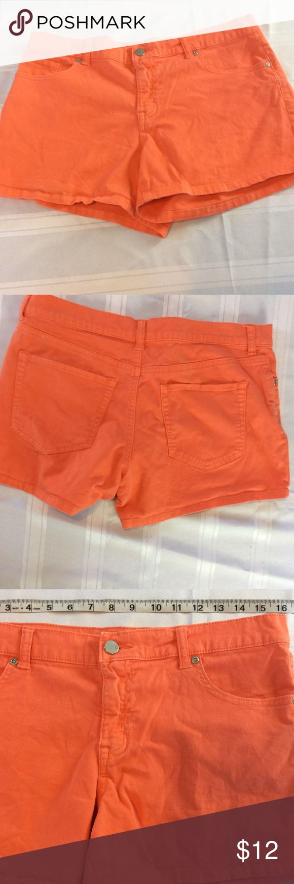 New York and Company Womens Orange Shorts Size 8 100% money back guarantee, free returns and excellent customer service.  Your item will ship within 24 hours after payment is received (excluding weekends and Holidays)  Please let us know if you have any questions.   New York and Company Womens Orange Denim Shorts Size 8 Summer  Location: M2  Our items are all from a pet free, smoke free home.  Items are purchased locally or donated so we are not aware if they have formally been around smoke…
