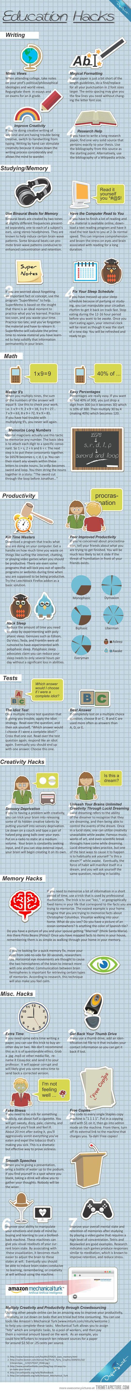Great education hacks…