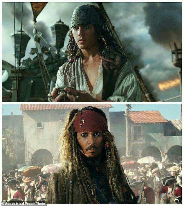Young Jack Sparrow and Captain Jack Sparrow. Amazing how similar the actors look