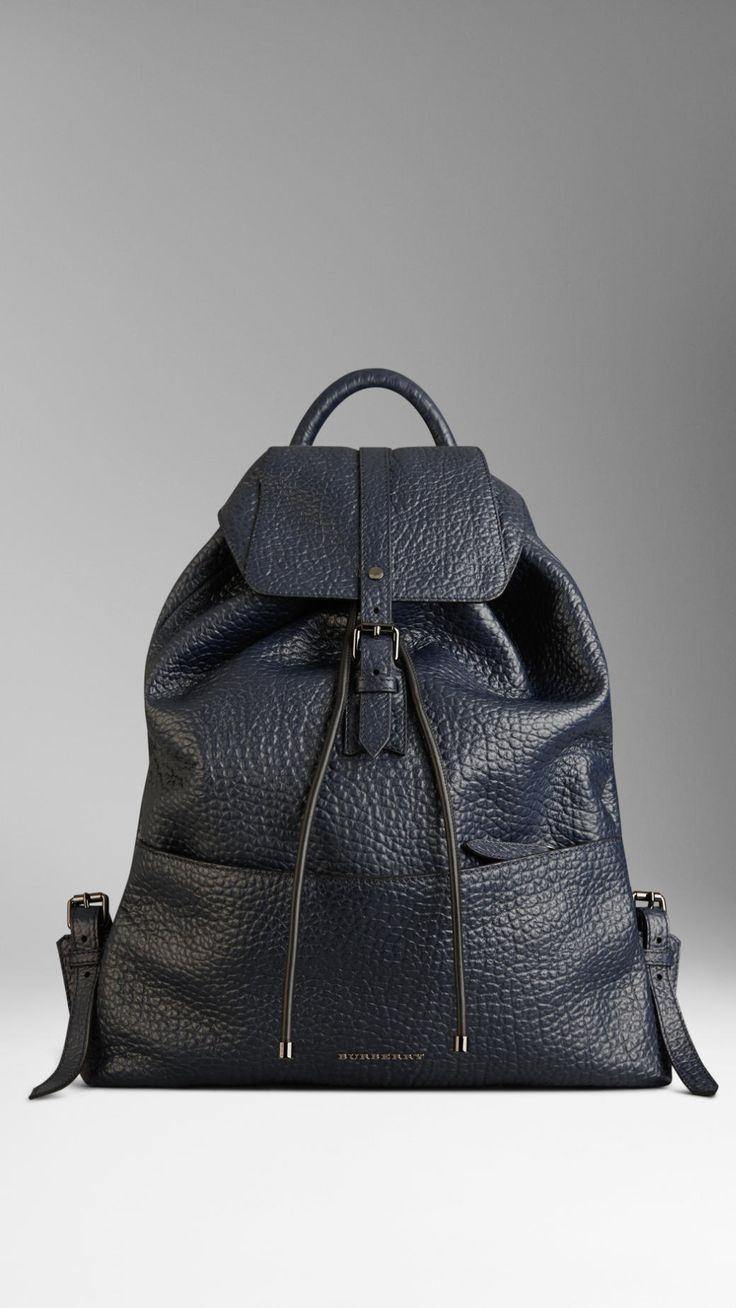 Signature Grain Leather Backpack | Burberry