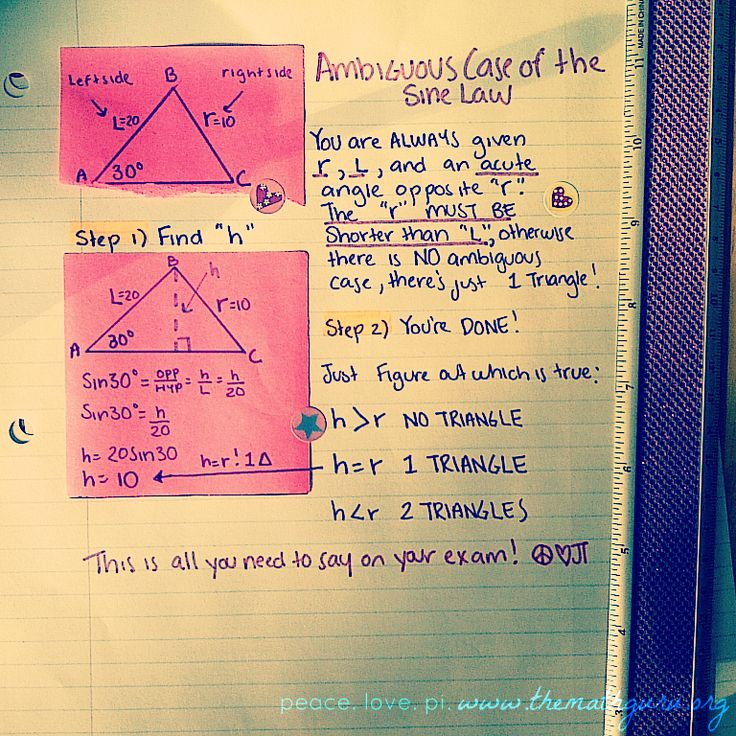 best trig images algebra high school maths  law of sines