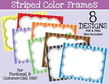 striped color frames freebie print and have kids draw inside the frame