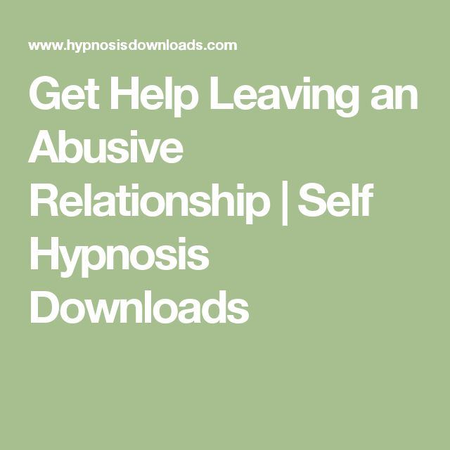 i need help leaving an abusive relationship