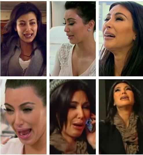 "Kim's ugly crying face blinds you | 23 Realizations About ""Keeping Up With The Kardashians"""