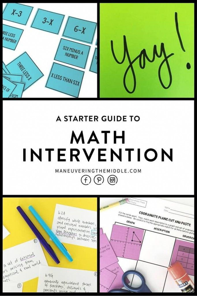 Math intervention classes are aimed at reaching struggling math students and providing additional time. My favorite math intervention schedule... | maneuveringthemiddle.com