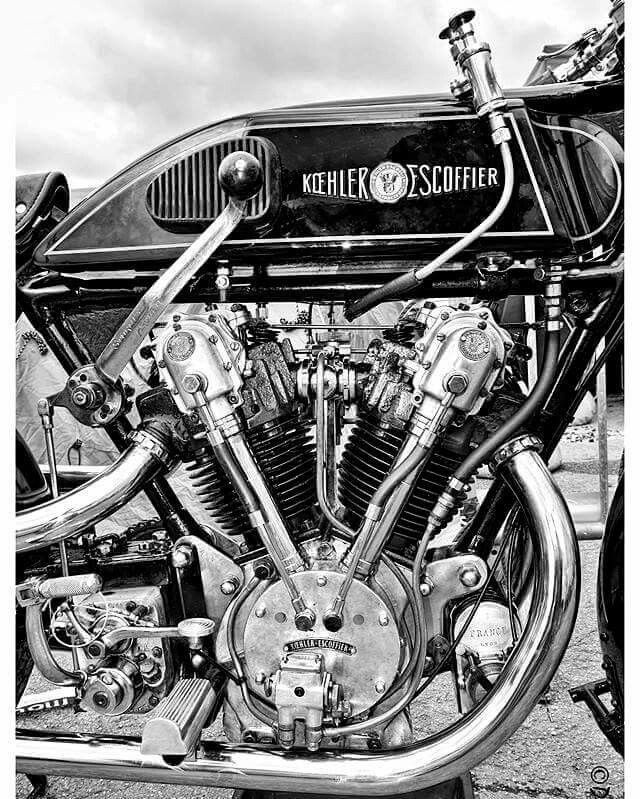 Koehler-Escoffier V-Twin motorcycle engine