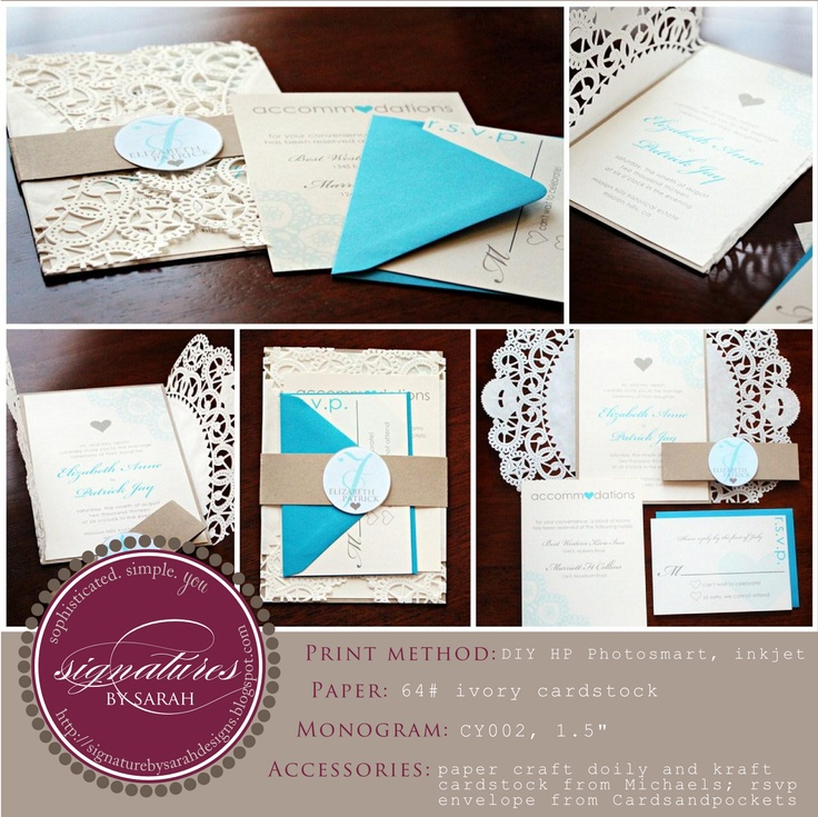 wedding invitations from michaels crafts%0A Signatures by Sarah