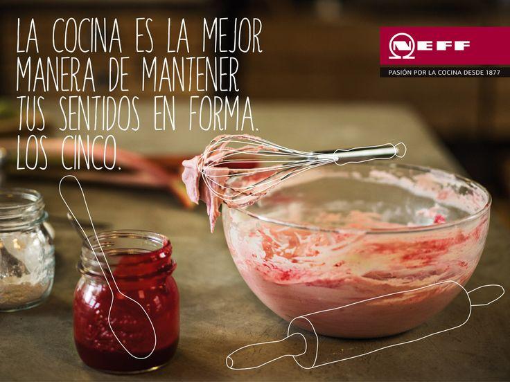 La cocina es la mejor manera de mantener tus sentidos en forma. Los cinco. Neff, pasión por la cocina desde 1877.