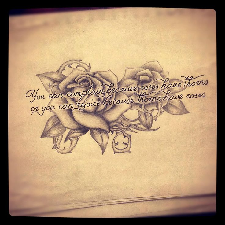 Roses with quote tattoo