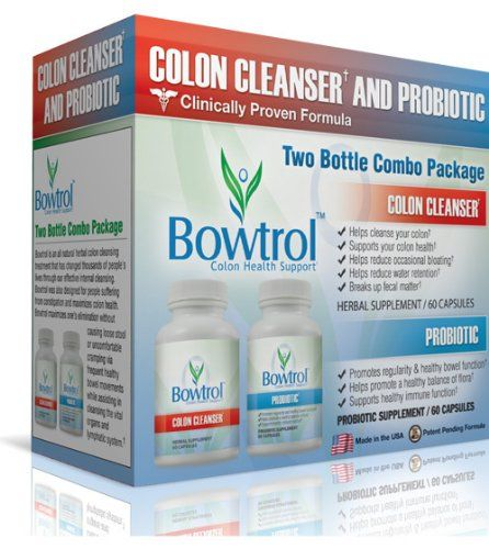 Bowtrol Colon Cleanser & Probiotic Combo Pack - Natural Colon Cleanse Supplement for Weight Loss, Detox and Cleansing ~ 6 Boxes $159.95