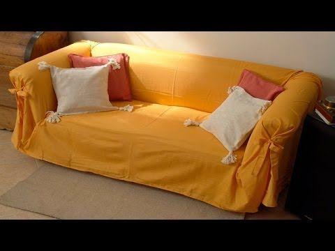 Сменный чехол на диван (евро-чехолы), ткань, сшить