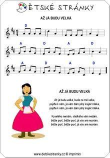 Až já budu velká - Básničky a písničky - Dětské stránky ...