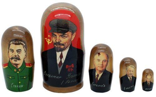 Matryoshka nesting doll From Lenin to Putin 5 pc | ArtMatryoshka - Toys & Hobbies on ArtFire