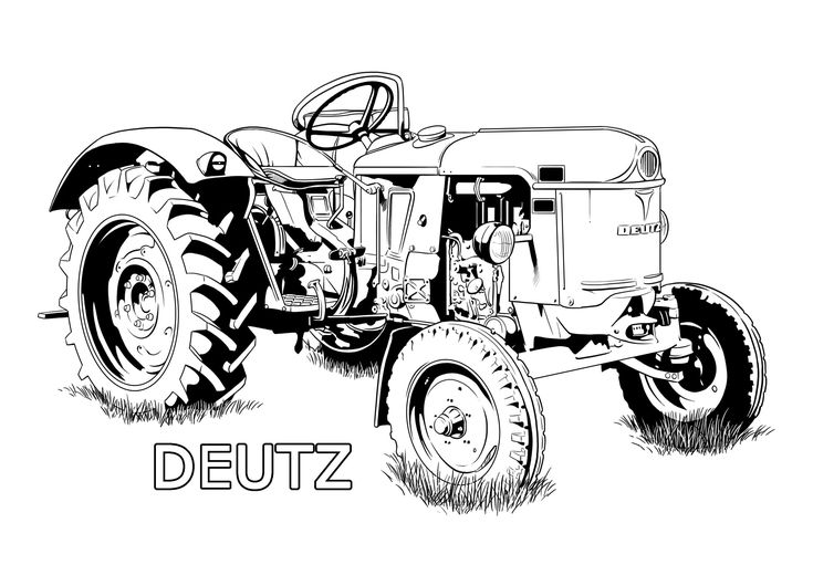 ausmalbilder traktor deutz  ausmalbilder traktor